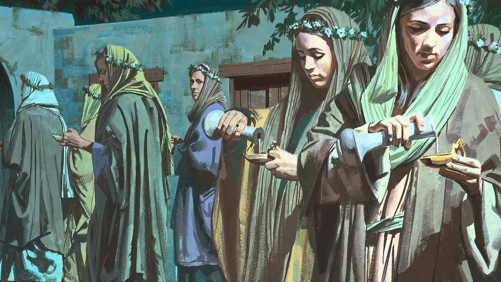 Resultado de imagem para A  Parábola das Dez Virgens